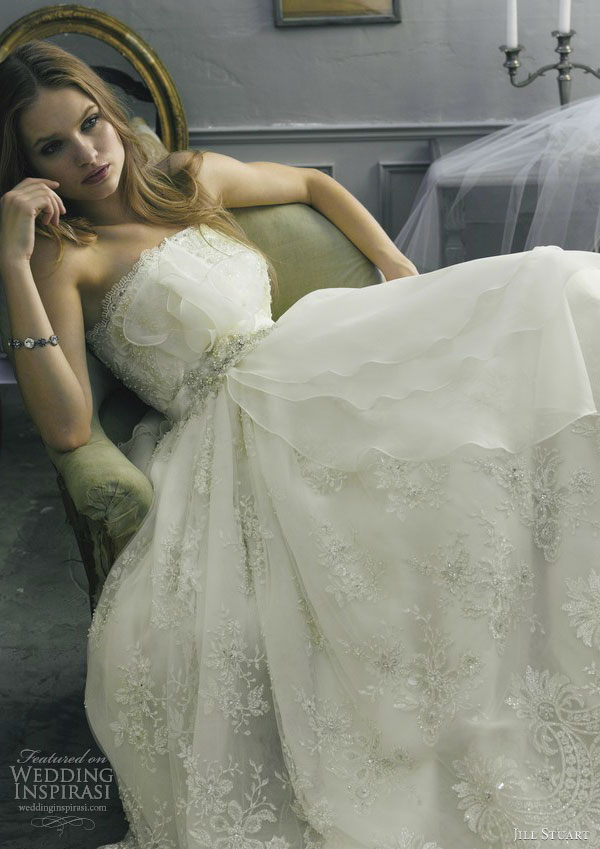 jill stuart wedding dress 2013 strapless 0140