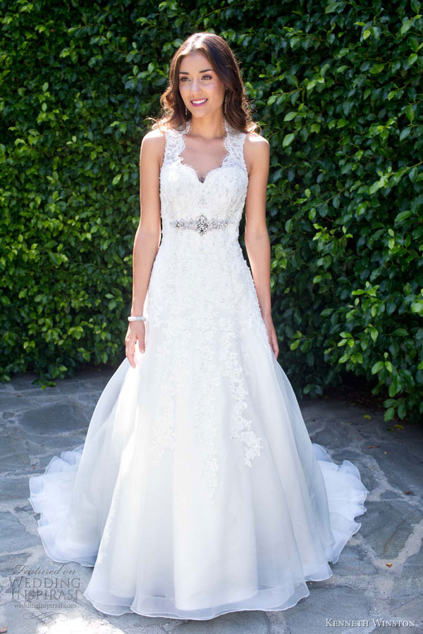 kenneth winston spring 2013 sleeveless lace wedding dress1488