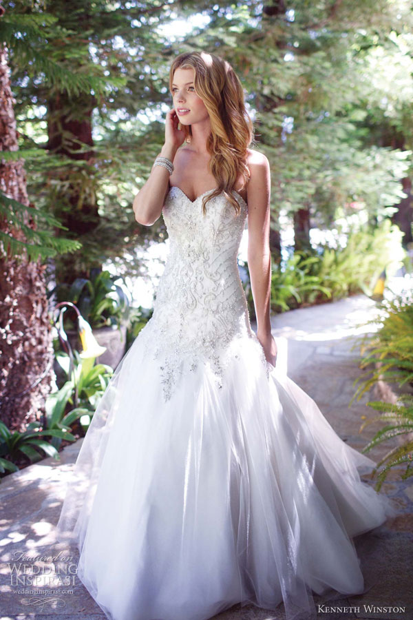 kenneth winston wedding dresses spring 2013 bridal strapless gown 1510