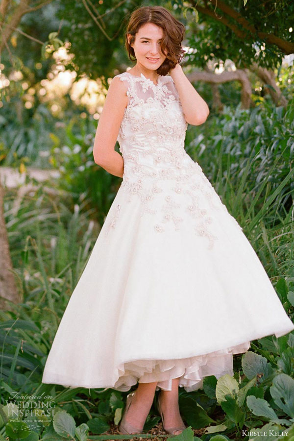 kirstie kelly wedding dresses 2013 magnolia tea length bridal gown
