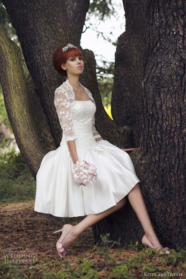 kitty and dulcie kneelength wedding dresses duchess dotty