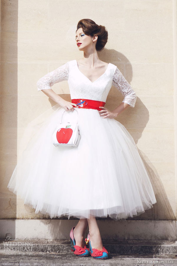 kitty and dulcie the country set wedding dresses baroness pearl tea length tulle gown
