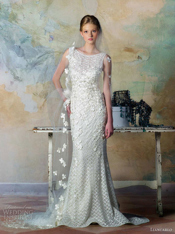 Vintage Wedding Gown Style 5835 : Liancarlo bridal fall wedding dress style sleeveless guipure