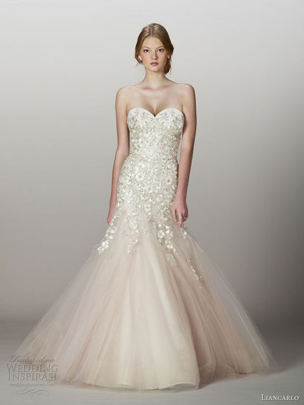 Wedding Dresses With Little Color : Liancarlo fall wedding dresses inspirasi