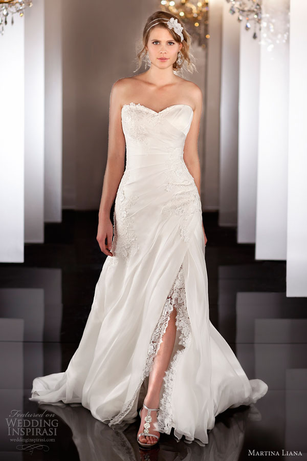martina liana fall 2013 wedding dress style 451 strapless slit