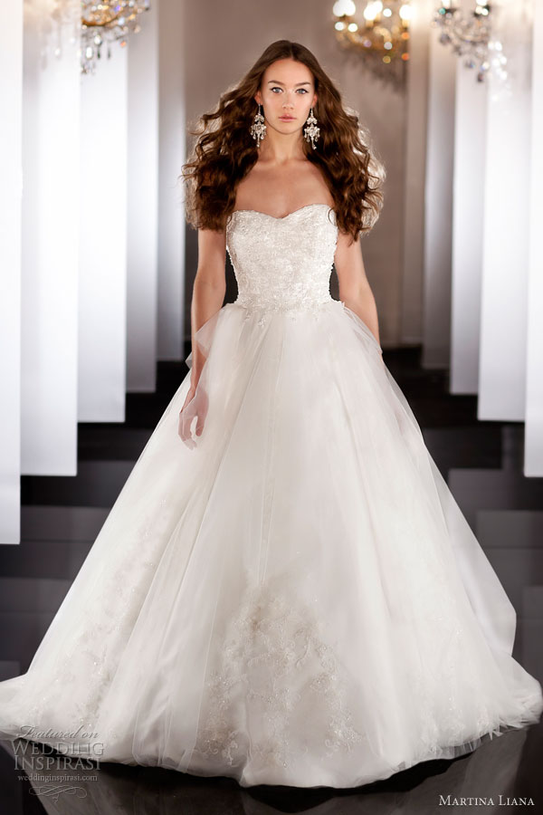 martina liana fall 2013 wedding dress style 456 strapless sweetheart ball gown