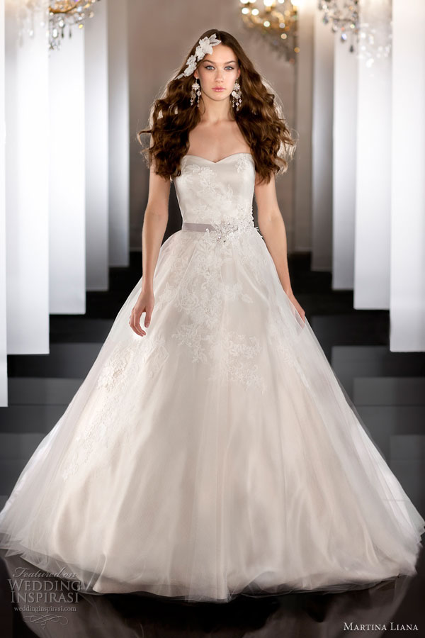 martina liana fall 2013 wedding dress style 457 strapless gown