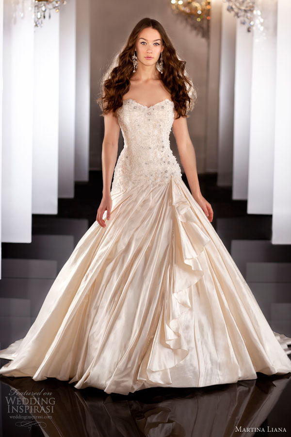 martina liana fall 2013 wedding dress style 467 strapless color