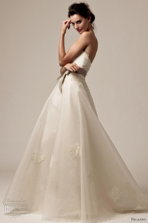 palazzo bridal 2013 wedding dresses dawn strapless
