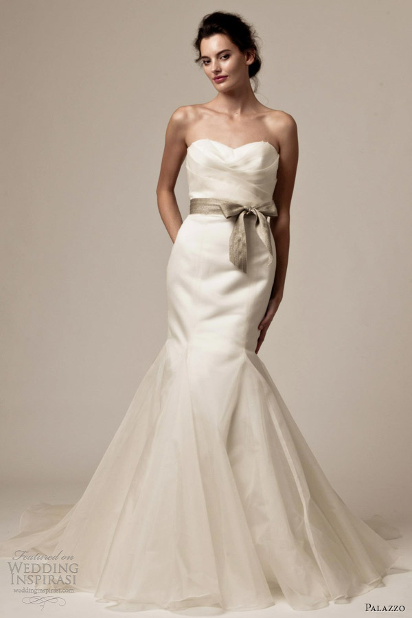 palazzo bridal by jane white 2013 tina strapless wedding dress