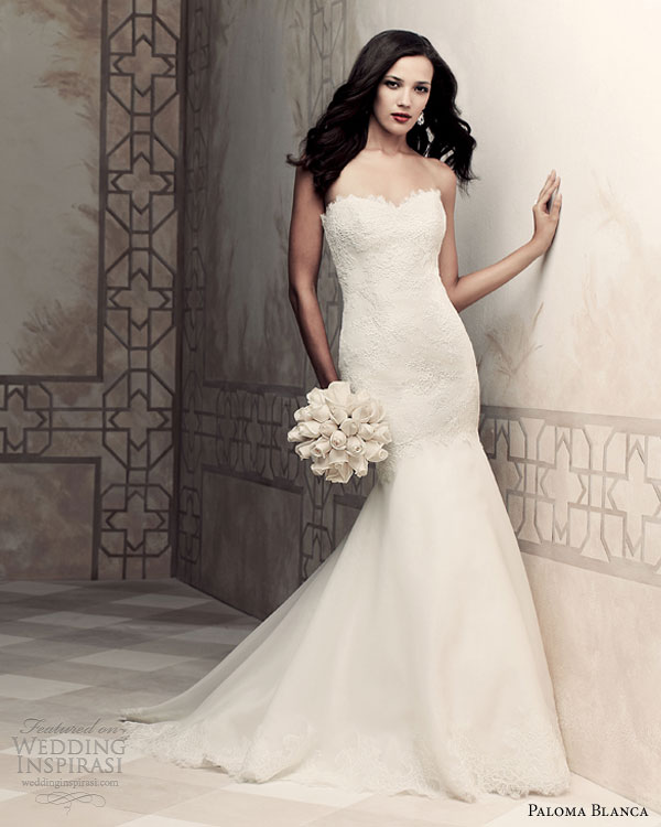 paloma blanca bridal 2013 fit flare wedding dresses 4358