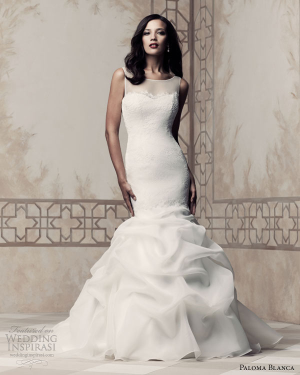 paloma blanca wedding dresses 2013 sleeveless gown style 4364