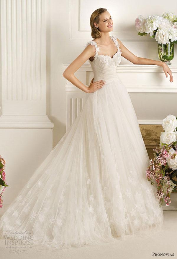 Pronovias 2013 Wedding Dresses Dirlan Straps