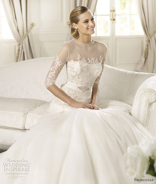 Drop Sleeve Wedding Gowns With: Pronovias 2013 Glamour Bridal Collection