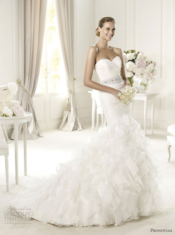 pronovias wedding dresses 2013 usia mermaid gown