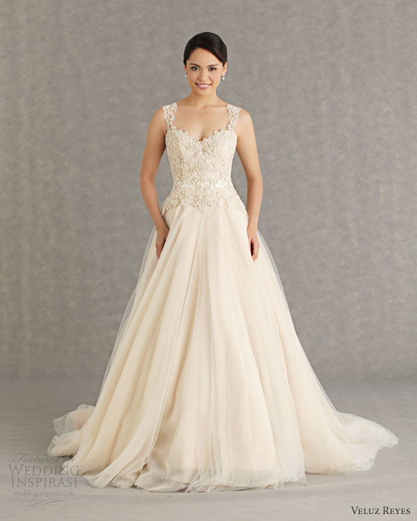 veluz reyes wedding dresses 2013 bridal rtw sophia gown straps illusion back