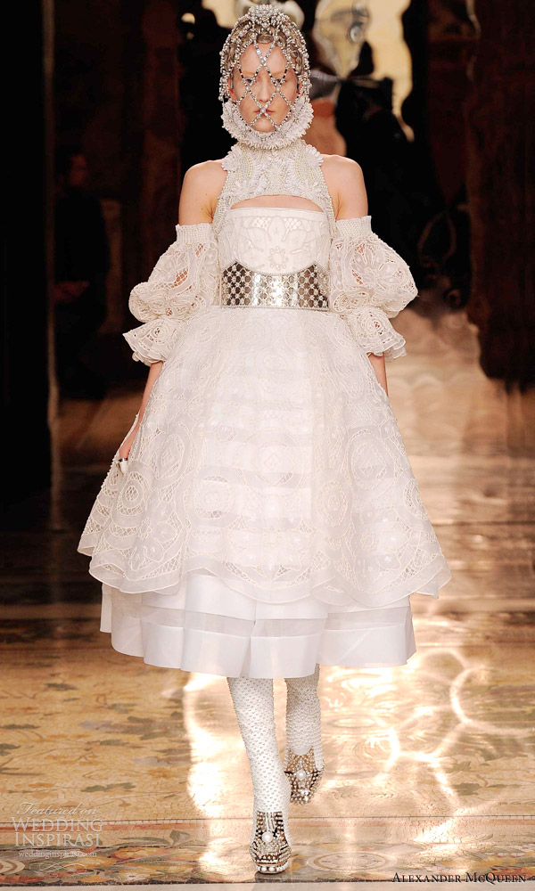 alexander mcqueen fall 2013 ready to wear wedding inspirasi