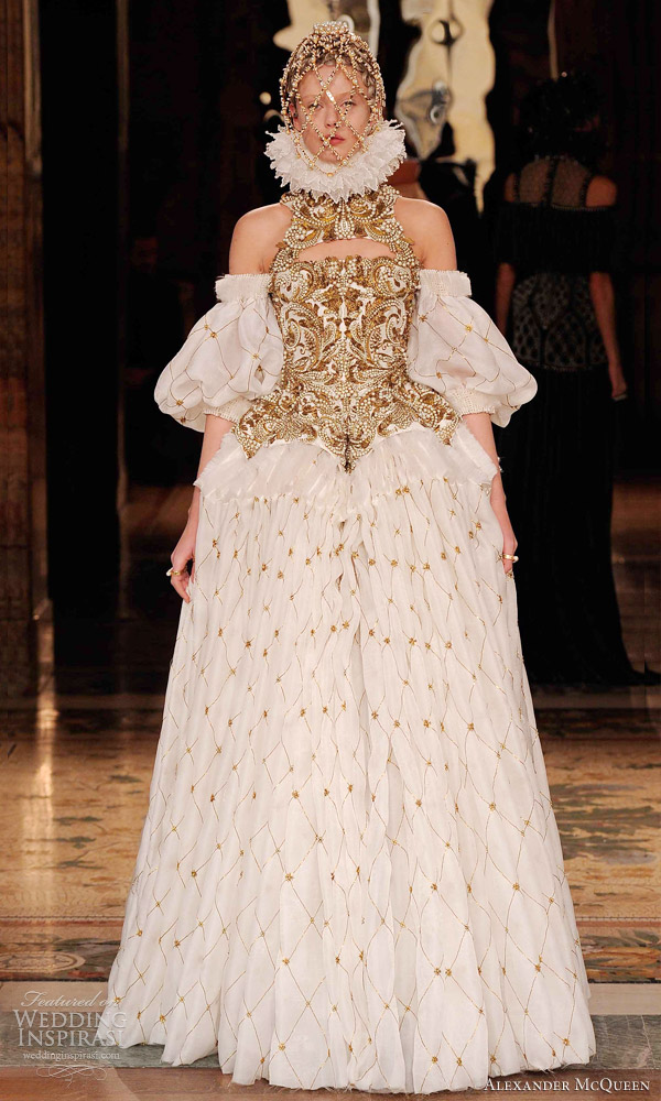 alexander mcqueen wedding dress mcqueen fall 2013 ready to wear wedding inspirasi 1252