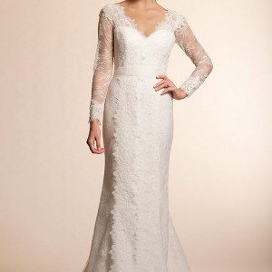amy kuschel 2013 long sleeve wedding dresses dahlia lace gown