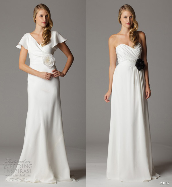 Crepe Wedding Gown: Aria Wedding Dresses 2013