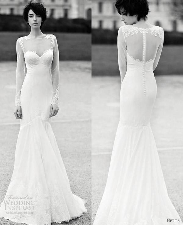 Incredible Berta Long Sleeve Lace Wedding Dress 600 x 738 · 61 kB · jpeg