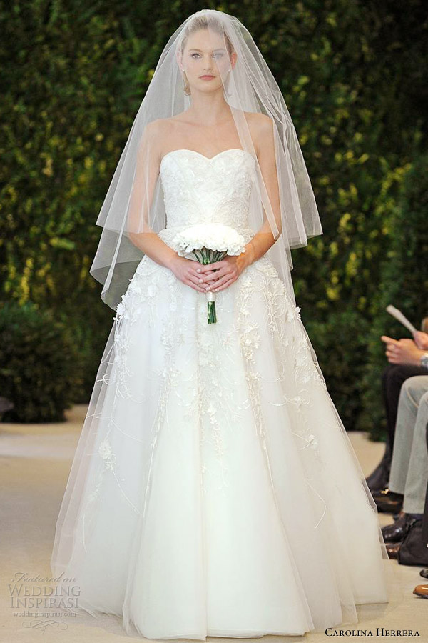 carolina herrera bridal spring 2014 amore strapless wedding dress