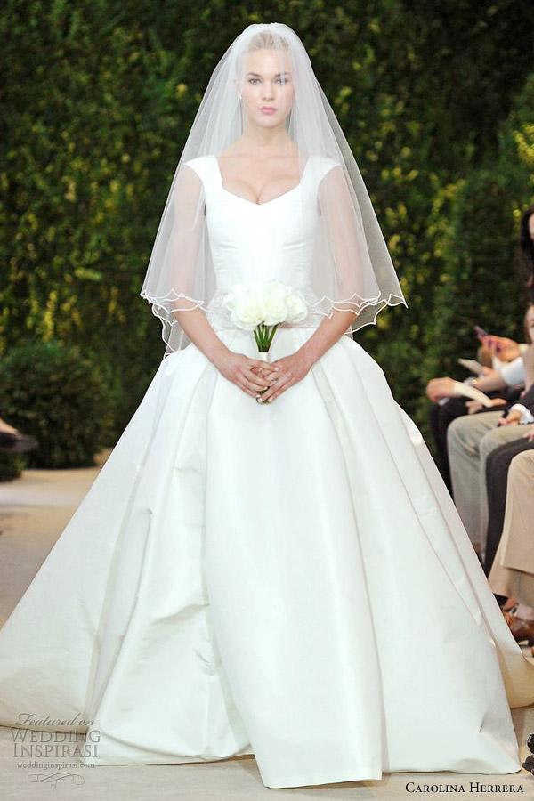 carolina herrera spring 2014 bridal adele ball gown
