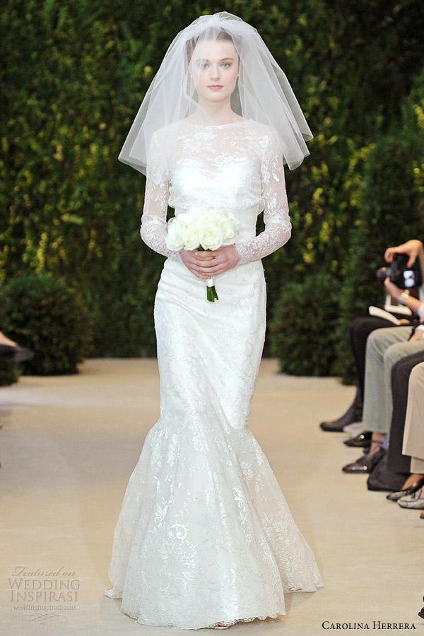 carolina-herrera-spring-2014-bridal-amelie-long-sleeve-lace-mermaid-wedding-dress