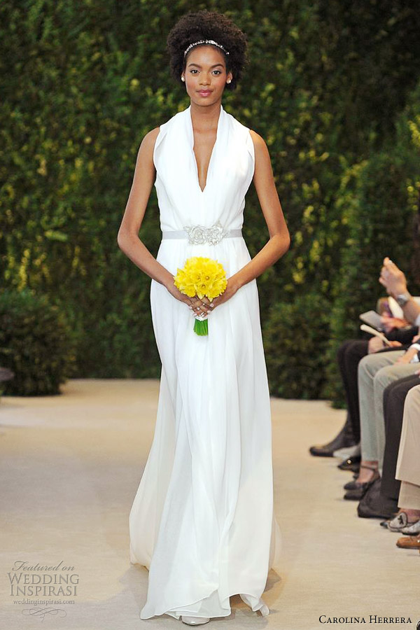 carolina herrera spring 2014 bridal ava sleeveless column gown