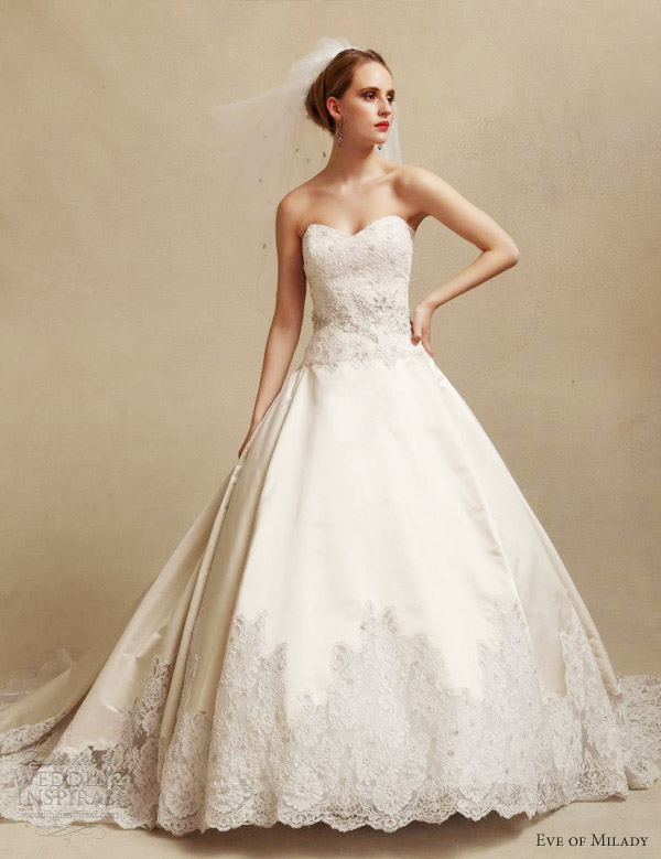 eve muscio couture wedding dresses fall 2013 strapless ball gown style 4300
