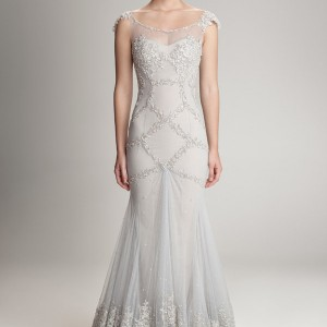 hamda al fahim fall 2012 2013 sheath cap sleeve wedding dress
