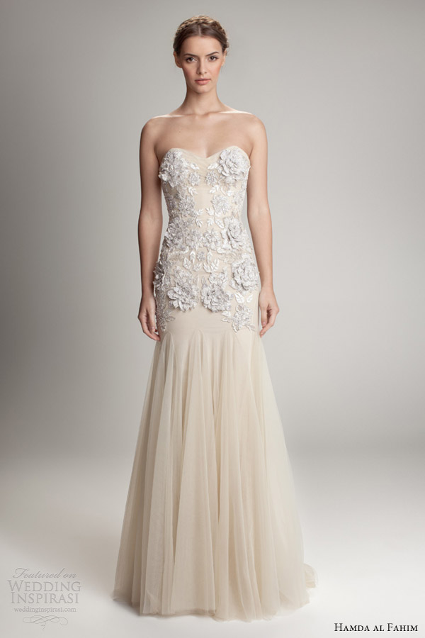 hamda al fahim fall 2012 2013 strapless gown