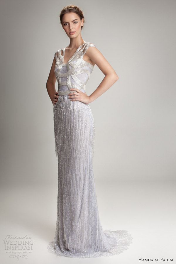 hamda al fahim fall 2012 2013 wedding dress beaded fringe