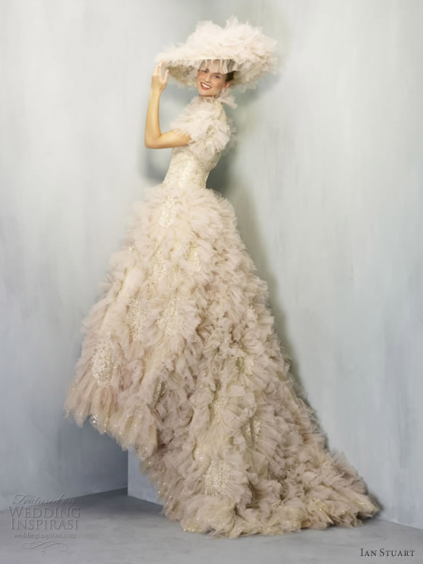 ian stuart wedding dresses 2013 folies bergere gold my fair lady style gown