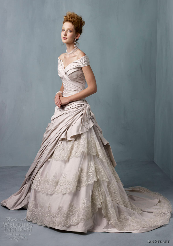 ian stuart wedding dresses 2013 frederique papyrus ball gown