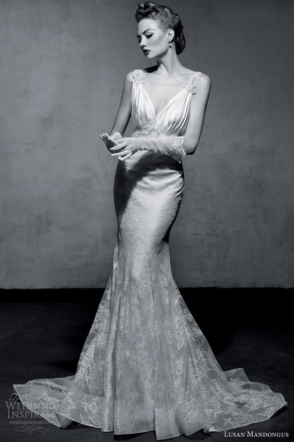 lusan mandongus bridal 2013 vintage glamour wedding dress