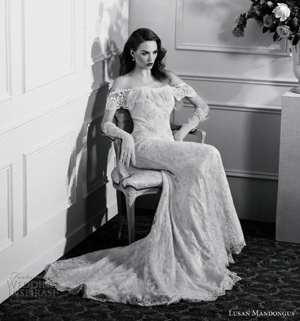 Vintage Wedding Gowns 1920s: Lusan Mandongus 2013 Wedding Dresses