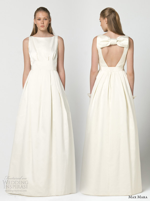 max mara bridal 2013 intenso wedding dress keyhole back oversized bow