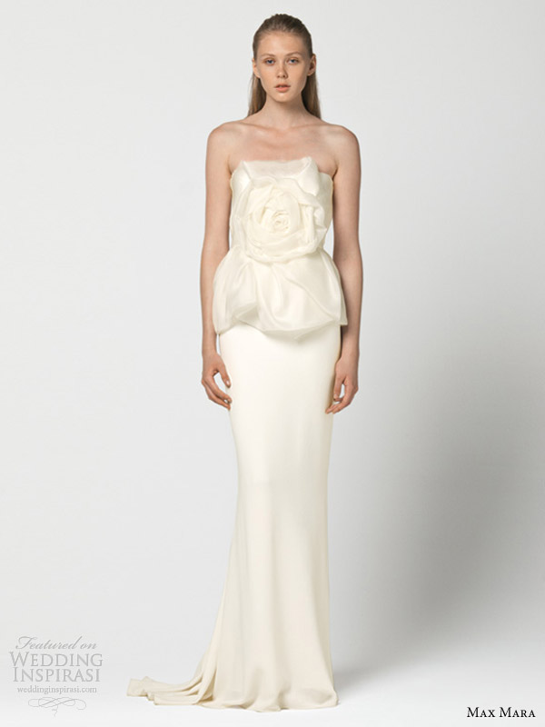 max mara wedding dresses 2013 intento flower bodice