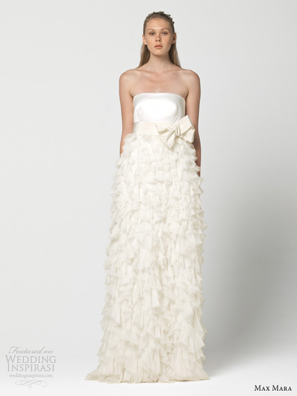 max mara wedding dresses 2013 ironia ruffle skirt