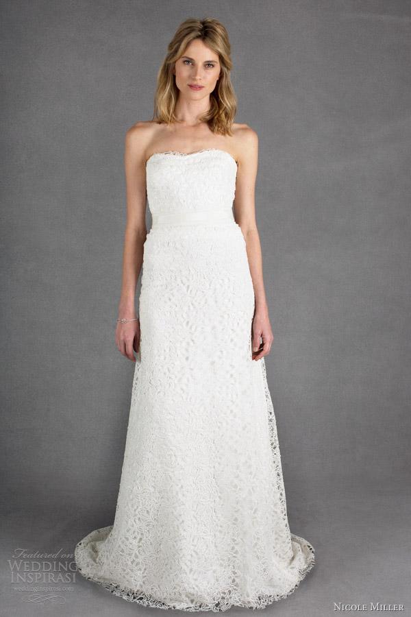 Nicole miller bridal spring 2014 wedding dresses wedding for Nicole miller strapless wedding dress