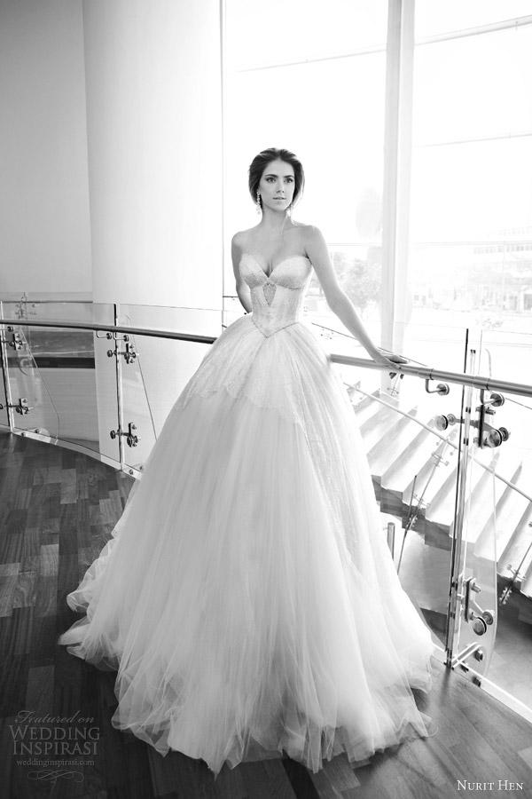 Nurit galinha 2013 vestido de noiva strapless