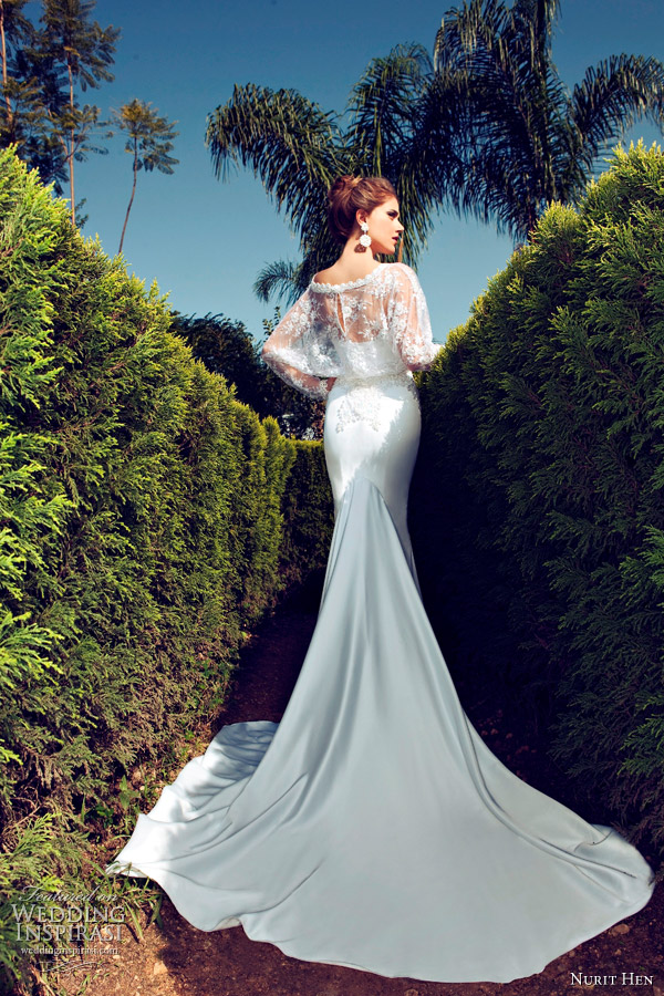 nurit hen 2013 wedding dress long sleeves