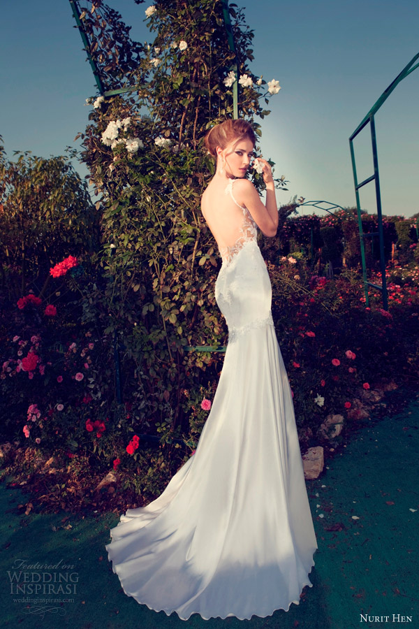nurit hen 2013 wedding dress open back