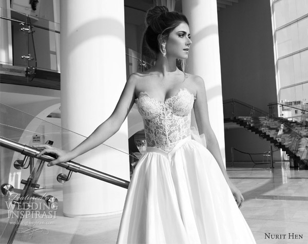 nurit hen 2013 wedding dresses strapless