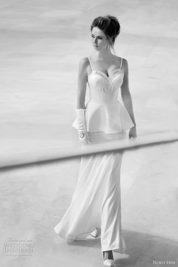 nurit hen wedding dresses 2013 peplum gown