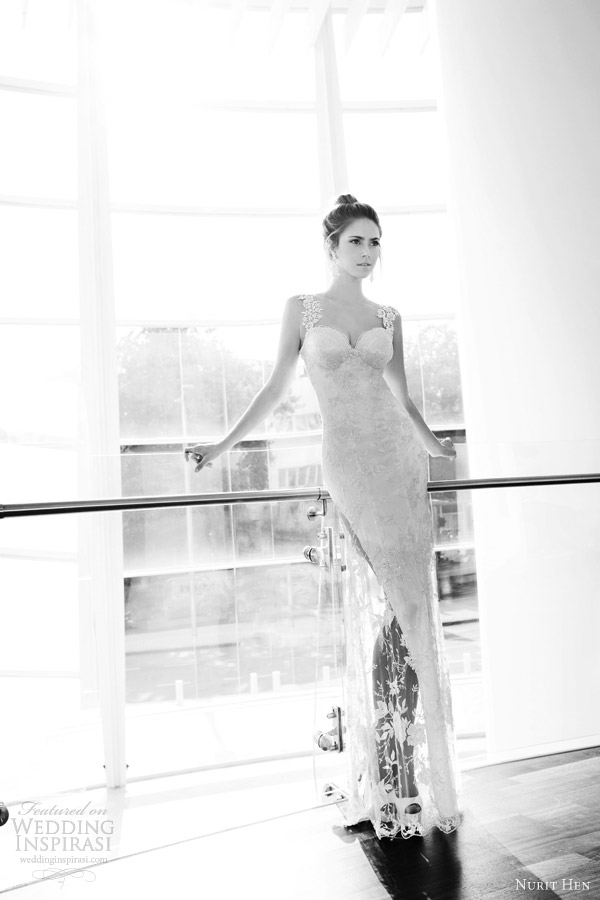 nurit hen wedding dresses 2013 sheath straps