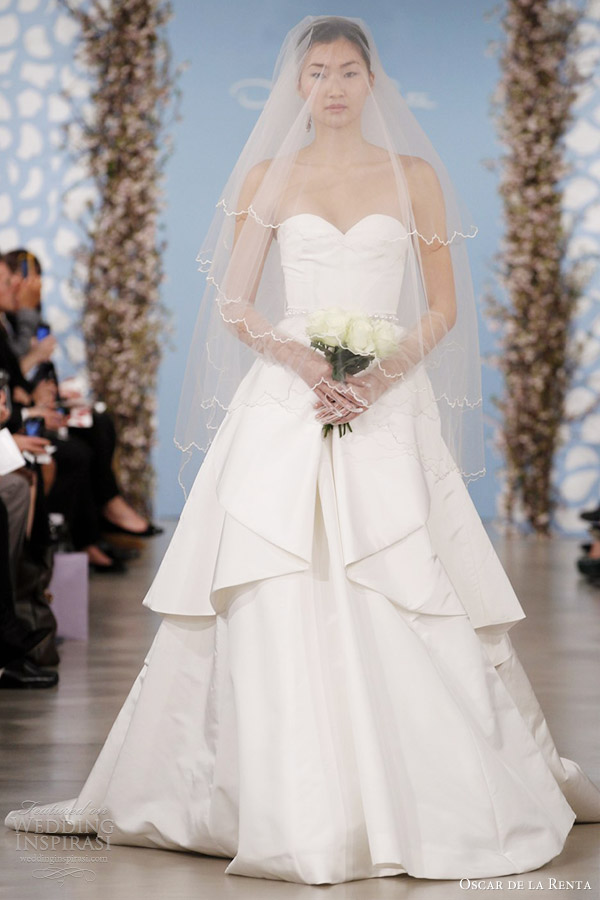 Oscar de la renta bridal 2014 wedding dresses wedding for Oscar de la renta short wedding dress