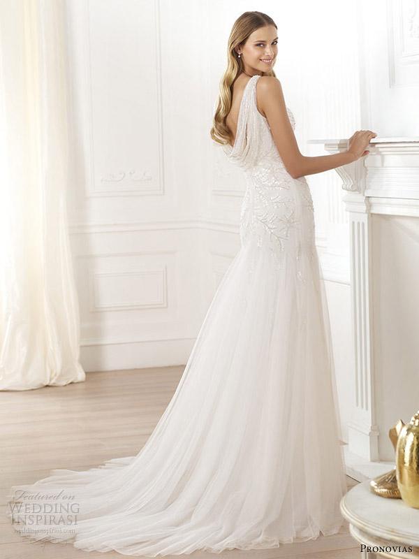 pronovias 2014 fashion laberne cowl back wedding dress