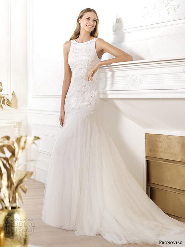 pronovias 2014 fashion wedding dress lacasta scoop back